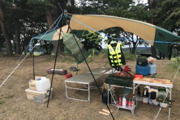【台風キャンプ】まさかの大型!強風キャンプ !